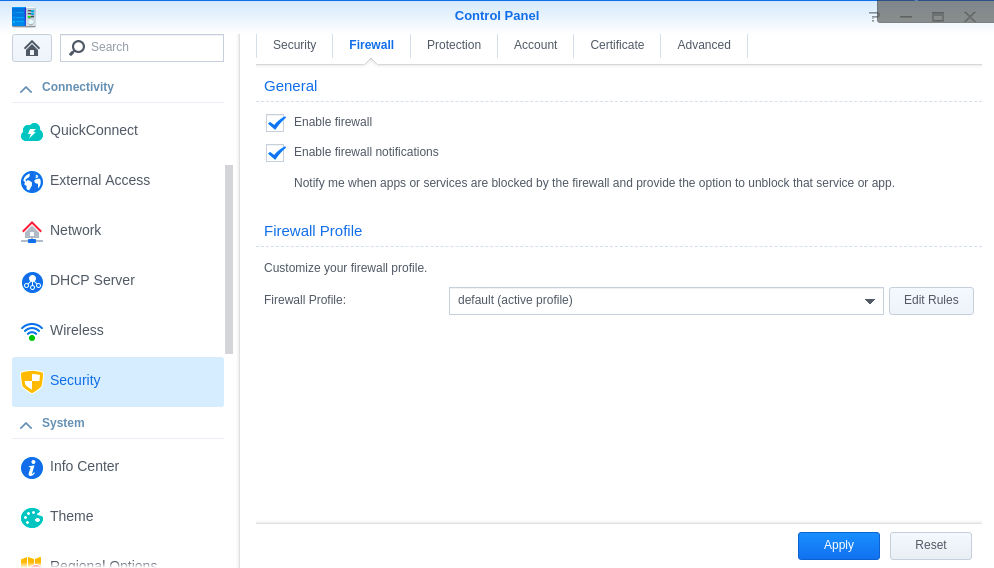 Synology Firewall GeoIP blocking - Packages & DSM Features