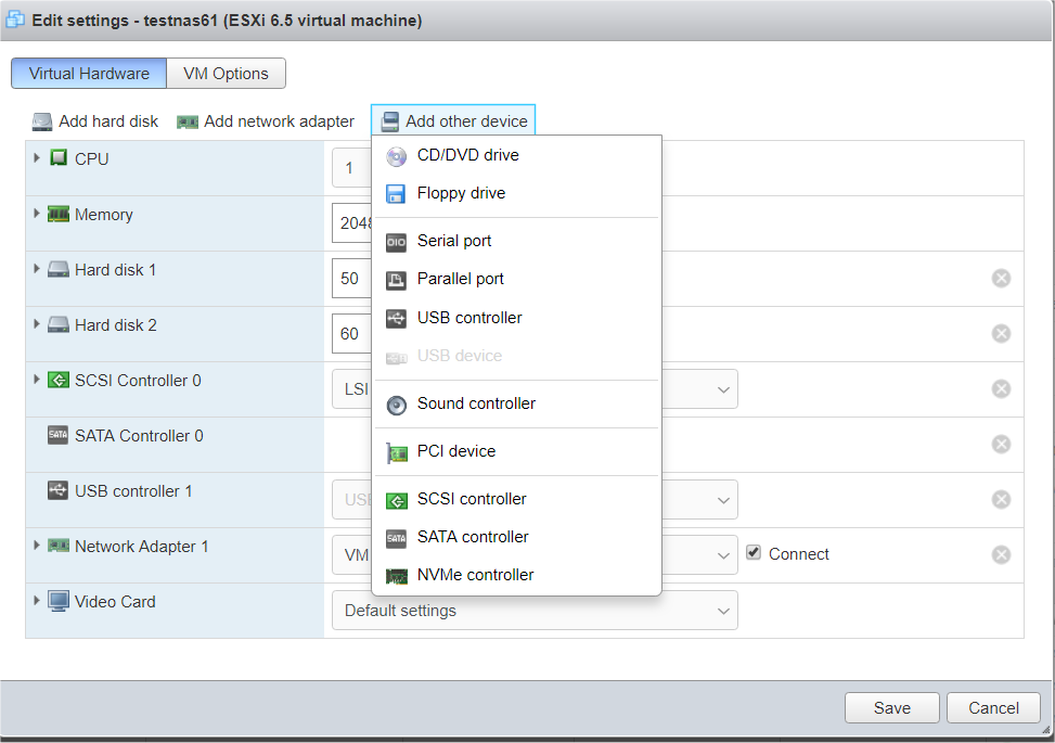 ESXI 6 5, DS918+, Jun 1 04, - Cannot create VM - ERROR